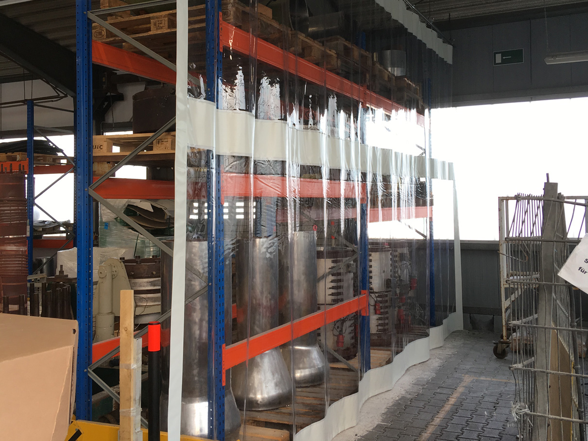 Industrievorhang Weiss